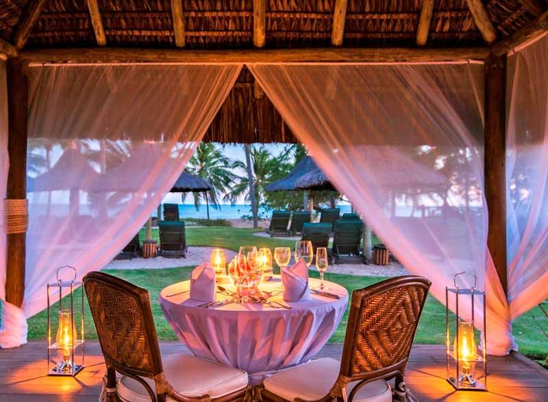 Jantar romantico no T/experiences bem localizado em frente a praia